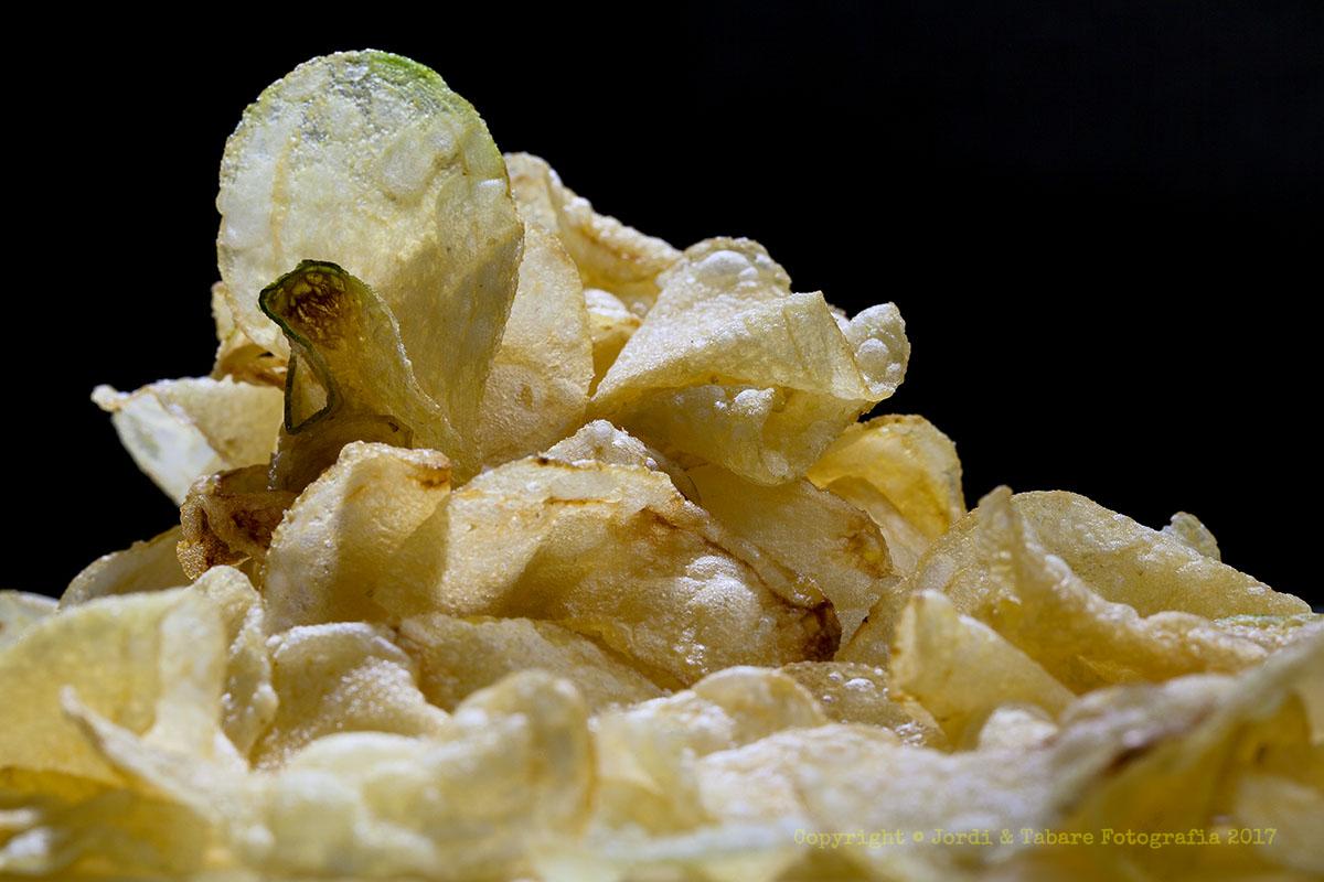 Pila de patates fregides